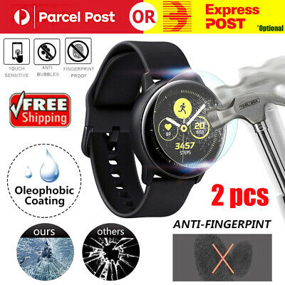 2Pcs Galaxy Watch Active 2 Tempered Glass Screen Protector Guard For Samsung