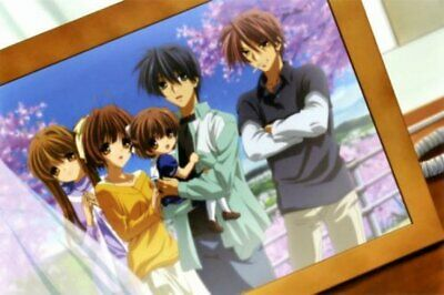 Poster Clannad Aftet Story Japan Anime Boy Room Club Wall Cloth Print 50