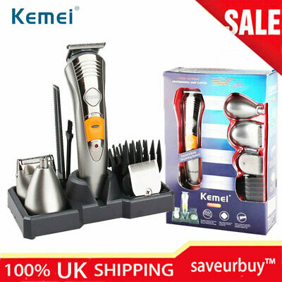 Electric Hair Trimmer Clipper Beard Shaver Remover Cordless Men's Grooming Kit