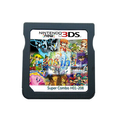 208 in 1 Game Cartridge Video Game Card Support DS  2DS 3DS NDS NDSL NDSi 3DSLL