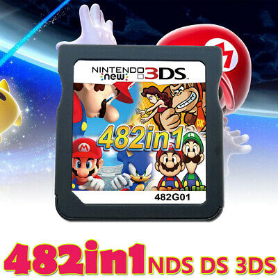 482 in 1 Game Cartridge for 2DS 3DS NDS NDSL 3DSLL NDSI Video Game Super Mario