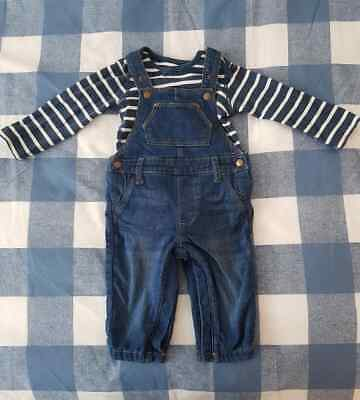 2 Piece Bodysuit and Dungarees Set (6-9 months)
