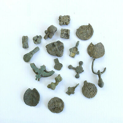 ancient artifact set, pendant, cross parts and other, as shown