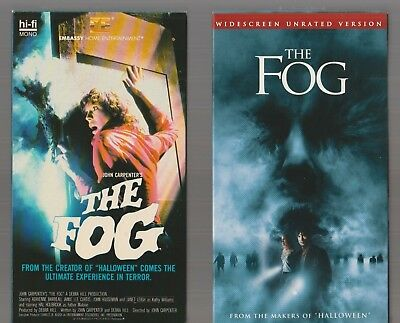 THE FOG 1980 + 2005 WIDESCREEN UNRATED Horror VHS video Movie Gore Cult Slasher