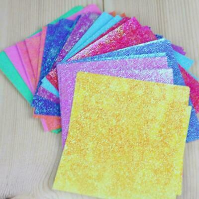 50pcs Square Origami Paper Single Side Glitter Folding 2019 Papers Solid Co K0U2