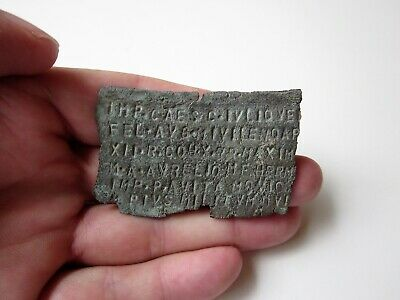RARE and unique ancient Roman bronze MILITARY DIPLOMA  I - II AD./part.