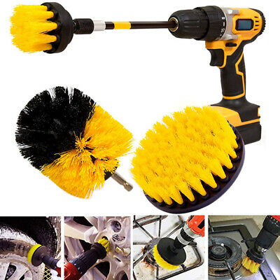 4 Pcs Scrubber Cleaning Drill Brush Extended Set for Bathroom Floor Tile