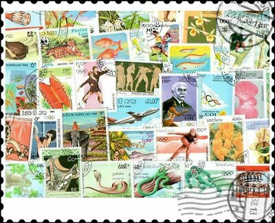 Laos : 400 Different Stamps Collection