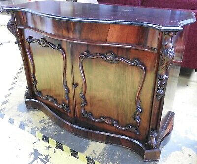Antique Sideboard with Marble Top - Possibly Victorian (for Restoration)