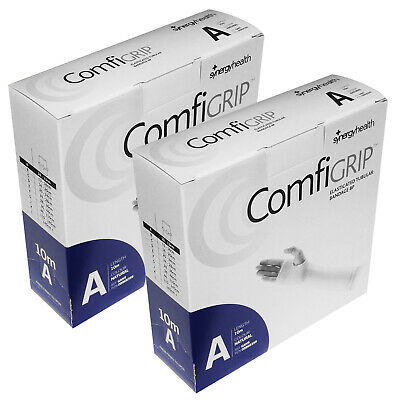 Twin Pack Comfrigrip Size A Small Stretch Tubular Compression Bandage Support