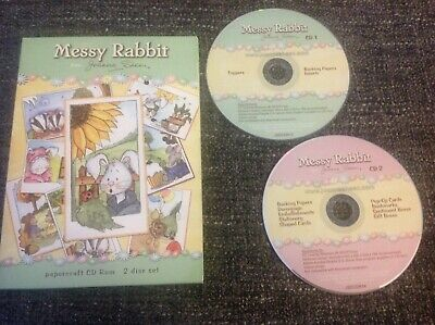 Joanna Sheen Messy Rabbit - Papercraft Card Making Double 2 Disc CD Rom