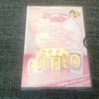 Mystique Papercraft PC - Glitter Girls Keepsake Card Craft CD ROM New & Sealed