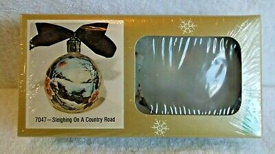 Kristy Christmas Tole Painting Ornament Kit - Sleighing On A Country Road
