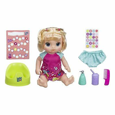 Baby Alive Potty Dance Baby 50+ Sounds, Phrases & Songs Blonde New