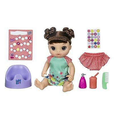 Baby Alive Potty Dance Baby 50+ Sounds, Phrases & Songs Brunette New