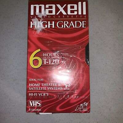 Maxell Video cassette High Grade 6hr T-120 Vhs New Media Lot Of 4