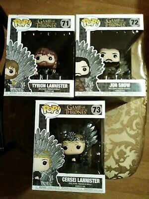 Lot Of 3 Funko Pop Game Of Thrones Tyrion Lannister, Jon Snow, Cersei Lannister