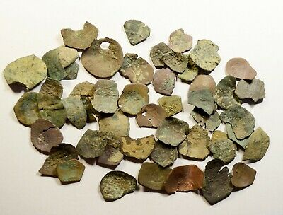 Lot Of 50 Ancient Byzantine Cup Coins/fragments - Low Quality - 09