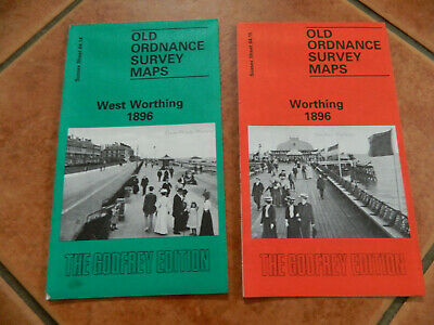 West Worthing & Worthing 1896 Old Ordnance Survey Map Reprint Alan Godfred 1995