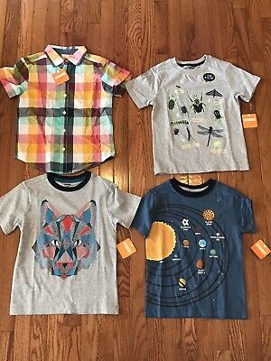 Boys Short Sleeve Shirt 5/6 5 6 Lot NWT Gymboree The Childrens Place Crazy 8
