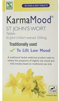 Schwabe Pharma KarmaMood St Johns Wort Extract 250mg Tablets- Pack of 30 Tablets