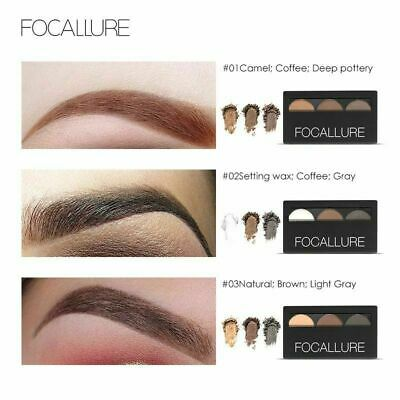 Focallure Eyebrow Powder 3 Colors Palette Waterproof And Smudge Proof