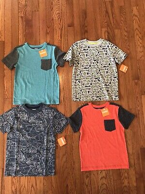 Boys Short Sleeve Shirt Lot Size 5/6 Gymboree NWT The Childrens Place Crazy 8