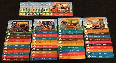 Animal Crossing New Leaf Welcome Amiibo 50 Cards COMPLETE SET Lot Series 5 NA