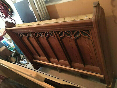 Unique Victorian pew Gothic wooden BED King Size