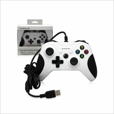 New Dobe Xbox One Wired USB Game Controller White for Microsoft Xbox One S