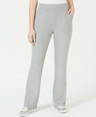 GUESS Women's S Opal High-Waist Relaxed Fit Flare Leg Pull-On Pants, Gray
