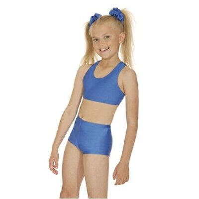 New Childrens/Adults Girls Nylon/Lycra Crop Top All Sizes