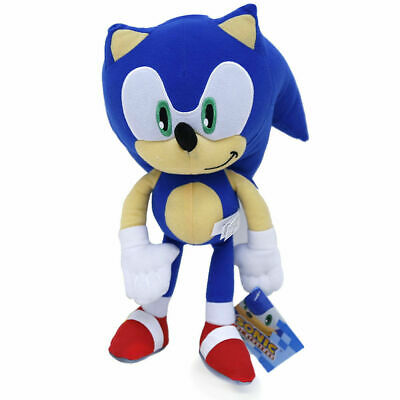"""Super Sonic The Hedgehog Classic Blue Stuffed 8"""" inch Plush Toy for Kids NWT"""