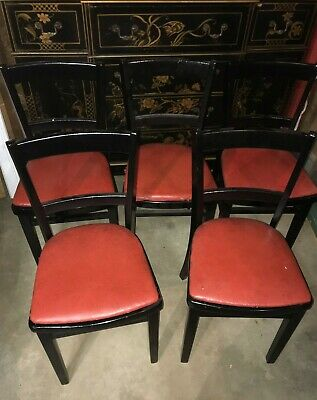 5 Antique Astra Bentwood Furniture Cafe Bistro Parlor Dining Chairs Usa