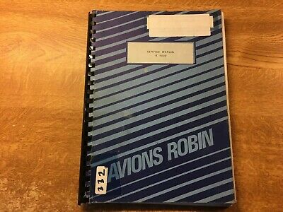 Avions Pierre Robin Service Manual R 1000 Aircraft Air Plane