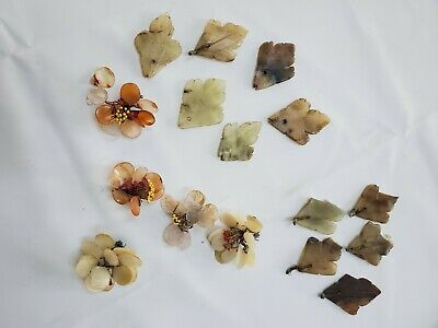 Jade pieces mixed colors, sizes. originally used for jade tree. reclaimed reuse