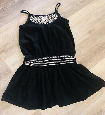 Baby Gap Drop Dress Black Embroidery Size 4T 4 Years