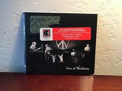 """Creedence Clearwater Revival """"Live At Woodstock"""" CD (2019) Rock 'N' Roll, NEW."""