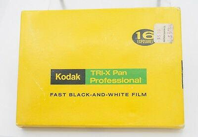 "Rare - Kodak Tri-X Pan Professional Film Pack 4"" x 5"" Metal - For Display"
