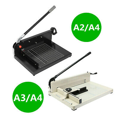 "12/17/19"" Width Guillotine Paper Cutter Stack Paper Guillotine Trimmer"