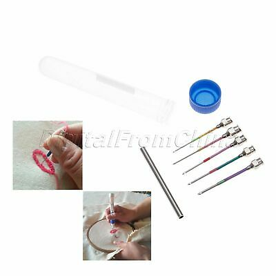 5Pc 9/10/12/14/16# Household Embroidery Stitching Sewing Punch Poked Needles Set