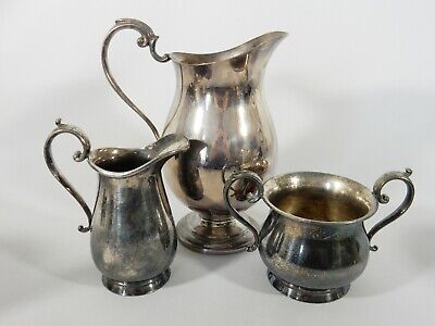 Antique Vintage Bulk Job Lot Silver Plate Plated Water Set Milk Jug Sugar Bowl