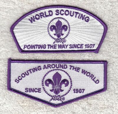 A9314 24th WORLD SCOUT JAMBOREE 2019  - WORLD SCOUT FLAP / CSP MATCHING SET