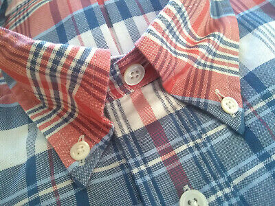 NWOT Brooks Brothers Blue White Check Button Down 15-35 15.5-34 Regent MSRP $140