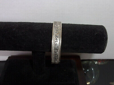 Estate Antique Middle Eastern - Persian - Arabic - Indian - Silver Cuff Bracelet