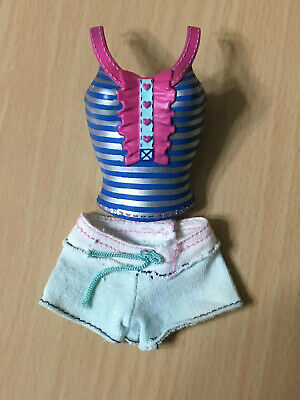 Barbie Doll My Scene Kennedy Denim Jeans Flower Belted Skirt Outfit Clothes