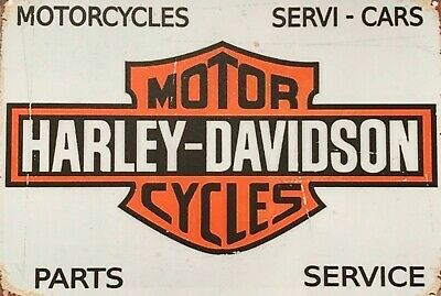HD Harley motorcycles  brand new.  tin metal sign MAN CAVE