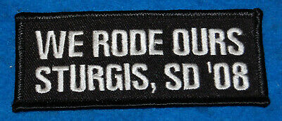 We Rode Ours Srurgis SD '08 Embroidered Patch, New