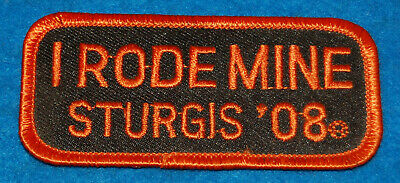 I Rode Mine Sturgis '08 Embroidered Patch (Orange), New