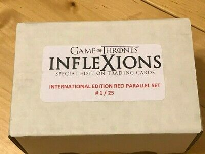 Game of Thrones Inflexions Internatonal Edition Red Foil Parallel Set - # 1/25